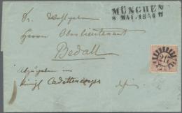 """1850, 1 Kr Hellilarot Entwertet Mit Klarem, Zentrisch Aufgesetztem """"217"""" (17 Schaufeln) Und Beigesetzt L2... - Bavaria"""