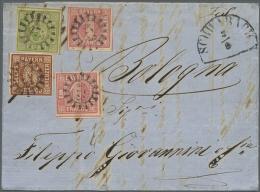 1849, Zweimal 1 Kr. Rosa, Type I, 6 Kr. Braun Type II/I Und 9 Kr. Gelbgrün Type III (kl. Tintendurchschlag),... - Bavaria