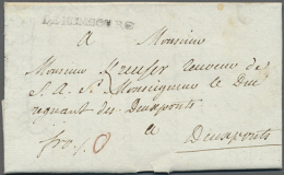 """""""DE HOMBOURG"""", Schwarzer L1 Klar Auf Komplettem Faltbrief (datiert 1787) Mit Taxvermerk """"0"""" Nach Zweibrücken,... - Bavaria"""