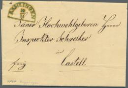 1838, Remlingen, Grüner Segment-Stpl. Auf Bf. 1838 Aus Urspringen Nach Castell, Bei Feuser Weder In Blau Noch... - Bavaria