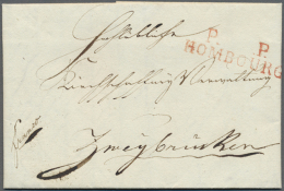 """""""P. P. HOMBOURG"""", Roter L2 (Departement-Nr. 100 Aptiert), Sehr Klarer Abschlag Auf Komplettem Faltbrief (datiert... - Bavaria"""