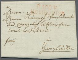 """""""P 100 P HOMBOURG"""", Roter L2 Klar Auf Komplettem Faltbrief (datiert Mittelbach 1813) Nach Zweibrücken,... - Bavaria"""