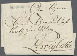 """DE HOMBOURG"", Schwarzer L2 Klar Auf Komplettem Faltbrief (datiert 1787) Mit Tax-Vermerk, Kabinett (D) - Bavaria"