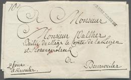 """""""DE DEUX PONTS"""", Schwarzer L1, Glasklar Auf Komplettem Faltbrief (datiert Bliescastel 1786) Mit Leitvemerk """"p.... - Bavaria"""