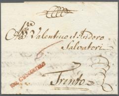 """1779,  DE GUNZBURG, Roter L1, Auf Komplettem, Aktenfrischen Brief Mit Handschriftlicher Taxrötel """"6"""" Nach... - Bavaria"""