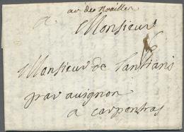 """Homburg"", 1734, Kompletter Faltbrief Aus Dem Feldlager Homburg Mit Rückseitigem Absendervermerk ""De... - Bavaria"