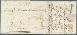 1732, Memmingen, Früher Auslandsbrief Nach Siena/Toskana. (D) - Bavaria