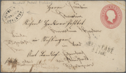 """NEUSTADT-EISENBACH Postablage-Stempel Auf GA-Umschlag 1862, 3 Kr. Karminrosa Mit K2 """"NEUSTADT 22 Jun."""" Nach... - Baden"""