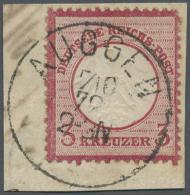 """""""AUGGEN 7/10 72"""" Seltener Badischer Agentur-K1 Vollständig Auf Briefstück Mit Kleinem Brustschild 3 Kr.... - Baden"""