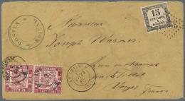 1870, Baden Paar 3 Kr. Karmin Auf Couvert, Während Des Deutsch-Französischen Krieges Mit K2... - Baden