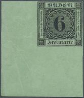 1851, 6 KR. Schwarz/lebhaftgrün, Allseits Breitrandiges Luxusstück Mit Postfrischem Originalgummi In... - Baden