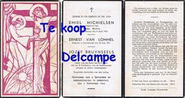 Bidprentje Oorlog , Gefusilleerd 1944 , Michielsen , Van Lommel , Bruynseels , Beerse , Noorderwijk, Herentals - Religion & Esotérisme