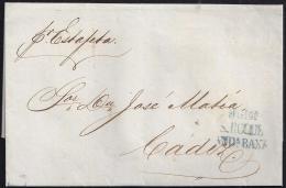 1855. ESPAÑA. SPAIN. GIBRALTAR A CADIZ. - ...-1850 Prephilately