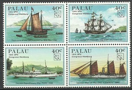 Palau 1984, Congresso UPU Ad Amburgo (**), Serie Completa In Blocco - Palau