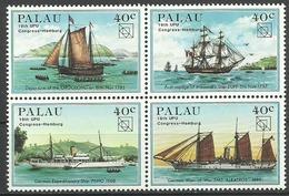 Palau 1984, Congresso UPU Ad Amburgo (**), Serie Completa In Blocco