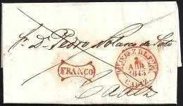 1843. ESPAÑA. SPAIN. JEREZ DE LA FRONTERA A CADIZ. - Spanien