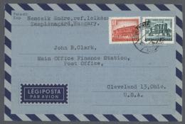 1959/1999 (ca.), Bestand Von Ca. 80 Meist Gebrauchten Frankierten Formular-AEROGRAMMEN Mit Inter. Und Unterschiedl....