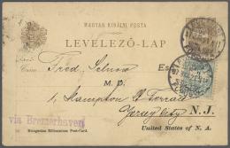 1910 - 1930 (ca.), Posten Von Etwa 225 Gebrauchten Ganzsachen Mit Einer Vielzahl Von Stempeln Und Destinationen....