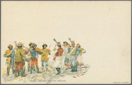POSTKARTEN: 1896, Jahrtausendfeier Ungarns - Bestand Mit Ca. 125 Ungebrauchten Bildpostkarten 'Briefmuster' 2 Kr....