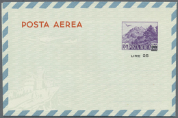 1950/1952, AEROGRAMMES: Accumulation With 96 Aerogrammes Incl. Different Types, Values And Surcharged Provisionals,...