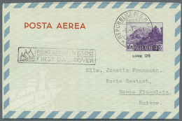 1950/1952, AEROGRAMMES: Accumulation With 54 Aerogrammes Incl. Different Types, Values And Surcharged Provisionals...