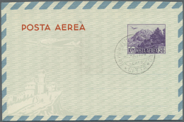 1950/1984 (ca.), AEROGRAMMES: Accumulation With About 130 Unused And Used/CTO Aerogrammes With Several Better...