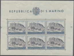 1949/1951, 75 Jahre Weltpostverein, Lot Von 5 Postfrischen Kleinbogen: MiNr. 438 (3), 439 B Und 439 C (teils...