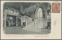 """1894/70 6 Items Consisting Of 5 Letters/ Post Card And One Potal Stationay. Starting With A Picture Post Card """"Sala..."""