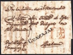 1842. ESPAÑA. SPAIN. GUANAJAY A LA HABANA. - Prephilately