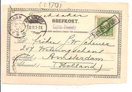 FRA SVERIGE Helsingor>Amsterdam Nederland 1901.Cp.Helsingborg