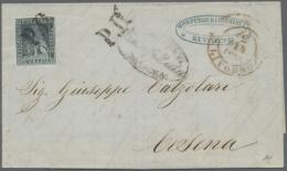 1851/1860, Interessante Gestempelte Sammlung Inkl. 9 Briefen Und Einer Vorderseite, Dabei Bessere Werte,...