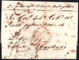 1847. ESPAÑA. SPAIN. EL ROQUE A CARDENAS. - Prephilately