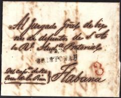 1843. ESPAÑA. SPAIN. SAN CRISTOBAL A LA HABANA. - Prephilately