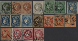1870/1871, BORDEAUX ISSUE, Collection Of 53 Stamps Showing All Denominations, Good Diversity Of Colours/shades,... - France
