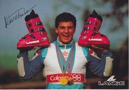"""CARTOLINA  - """"ALBERTO TOMBA"""" CAMPIONE DI SCI - Wintersport"""