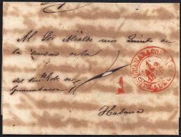 1846. ESPAÑA. SPAIN. GUANABACOA A LA HABANA. - Prephilately