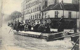 Inondations De Janvier 1910 - Ivry, Le Président Fallières, MM Lépine, Coutant, Millerand Et Briant - Carte C.M. N° 47 - Inondations