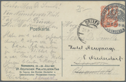 1921/1926, Philatelistentage, 5 Verschiedene Privatganzsachen, Dazu 1924, 4 Sonderkarten Der Berliner Briefmarken...