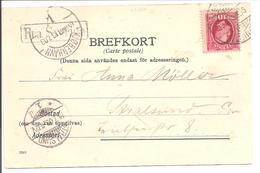FRA SVERIGE Kjobenhavn Stralsund 1903. Cp. Helsingborg Terassen - Briefe U. Dokumente