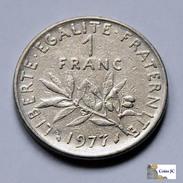 Francia - 1 Franc - 1977 - H. 1 Franco