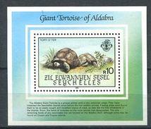 192 ZIL ELWANNYEN Seychelles 1985 - Yvert BF 4 - Tortue -  Neuf ** (MNH) Sans Trace De Charniere - Seychelles (1976-...)
