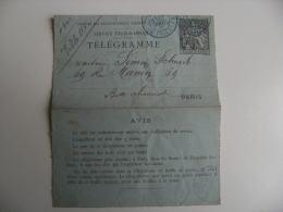 Entier Postal Telegramme Chaplain 50 Obliteration Bleue Av Friedland