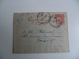 Entier Postal Enveloppe Pneumatique   Chaplain  1 F 50 Puteaux Pour Paris Via Neuilly Sur Seine