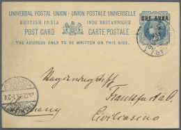 1896/1898, Lot Of Better Items (single Lots), Comprising Used Stationery Card P2B, And Three Registration Receipts...