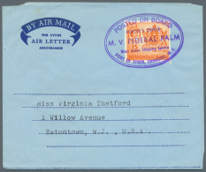 1968/1980 (ca.), Accumulation With About 260 Used/CTO AEROGRAMMES With Many Different Types And Watermarks, Uprated...