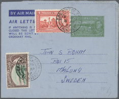 1950/1995 (ca.), AEROGRAMMES: Accumulation With About 300 Unused And Used/CTO Airletters And Aerogrammes Incl. Some...