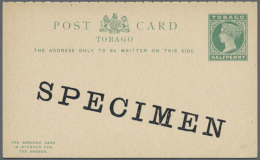1879/1955 (ca.), Duplicated Accumulation Including TOBAGO And TRINIDAD With About 650 Unused Postcards And Reply...