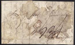 CORREO DESINFECTADO. 1834. ESPAÑA. SPAIN. MARSELLA A SANT FELIU DE GUIXOLS. - España