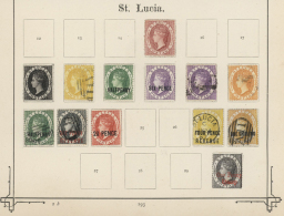 1863/1884, Petty Collection Of 13 Stamps Incl. Postal Fiscals, All Bright Colours; A Lovely Lot! (D)