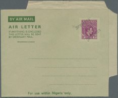 1948/1956 (ca.), AEROGRAMMES: Specialised Accumulation With About 650 Unused And Used/CTO Airletters And...